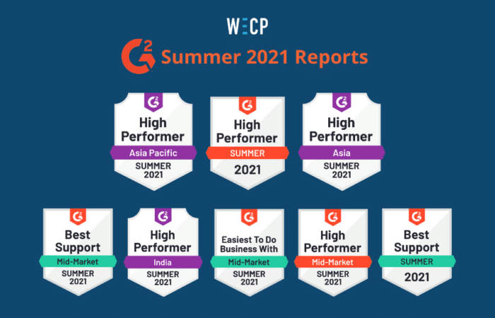 """WeCP (We Create Problems) is named a """"High Performer"""" in G2 summer 2021 reports"""